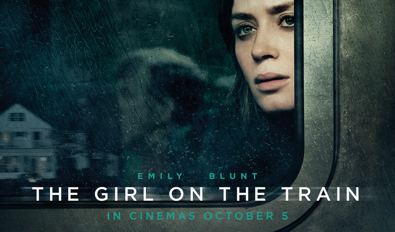 The Girl On The Train Movie Poster starring Emily Blunt Emily Blunt