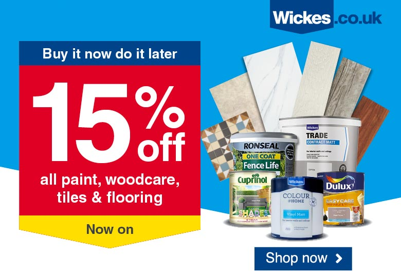 Wickes 15% Off